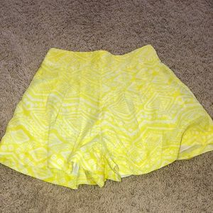 Yellow and white shorts